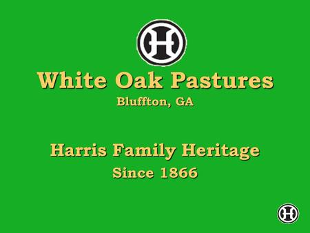 White Oak Pastures Bluffton, GA Harris Family Heritage Since 1866.