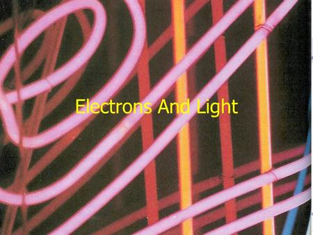 Electrons And Light. Electromagnetic Radiation Energy that travels as a wave through space Wavelength –λ – distance between corresponding points on adjacent.