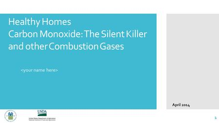 Healthy Homes Carbon Monoxide: The Silent Killer and other Combustion Gases 1 April 2014.