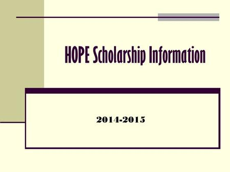 HOPE Scholarship Information 2014-2015. HOPE SAA GPA vs. HOPE GPA Your SAA GPA is a part of your transcript and is the average of ALL of your grades,