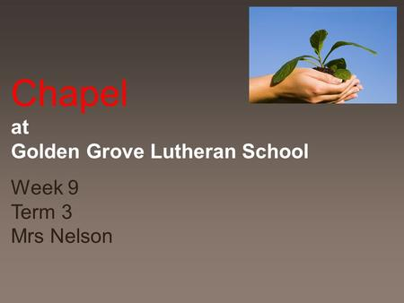 Chapel at Golden Grove Lutheran School Week 9