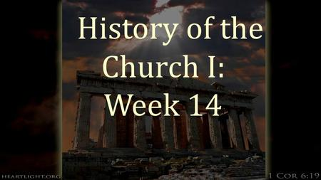 History of the Church I: Week 14. Charlemagne and Christendom  Christmas Day, 800 Charles the Great or Charlemagne becomes the protector of Rome and.