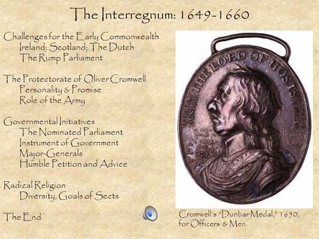 The Interregnum: Challenges for the Early Commonwealth