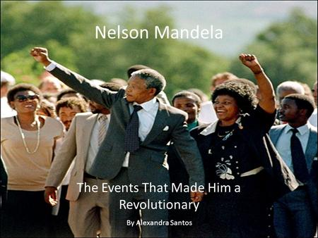 Nelson Mandela The Events That Made Him a Revolutionary By Alexandra Santos.