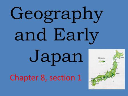 Geography and Early Japan