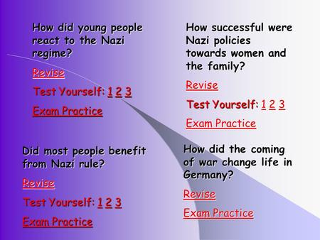 How did young people react to the Nazi regime?