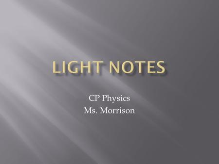 CP Physics Ms. Morrison.  Moving charged particles create magnetic fields  Changing motion of charged particle creates expanding and collapsing magnetic.