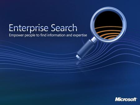 Using SharePoint Server 2007 for Site and Enterprise Search at Monsanto Company Vincent L. Arter, Jr. Project Lead Portals and Collaboration Monsanto.