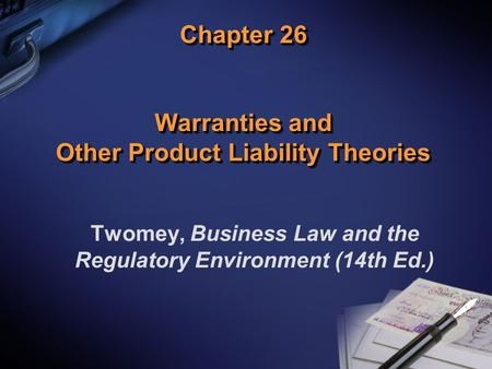 overview contracts and product liability Product liability claims can be based on the law of contract, delict or statutory provisions that set out liability for defective products the consumer protection act no 68 of 2006 (cpa) is the legislative instrument governing liability in respect of.