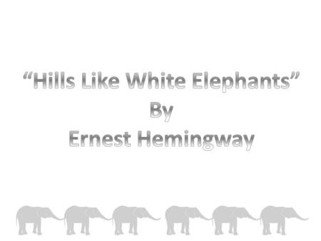 relationship between characters hills like white elephants