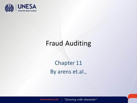 Fraud Auditing Chapter 11 By arens et.al.,.