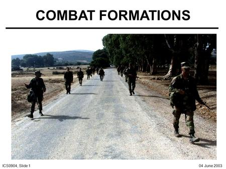 COMBAT FORMATIONS.