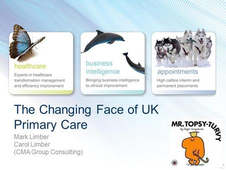 The Changing Face of UK Primary Care Mark Limber Carol Limber (CMA Group Consulting)