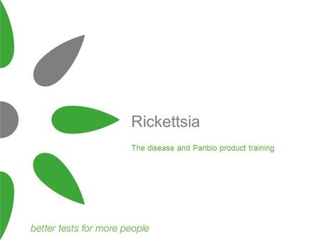 The disease and Panbio product training