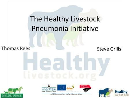 The Healthy Livestock Pneumonia Initiative Thomas Rees Steve Grills.