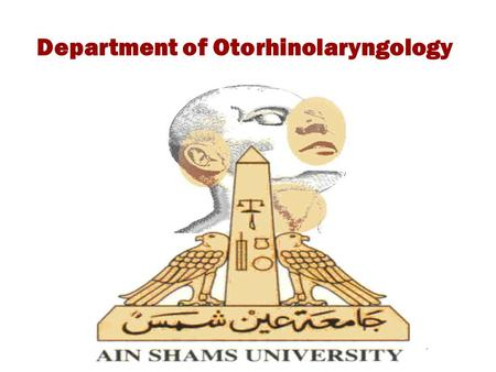 Department of Otorhinolaryngology