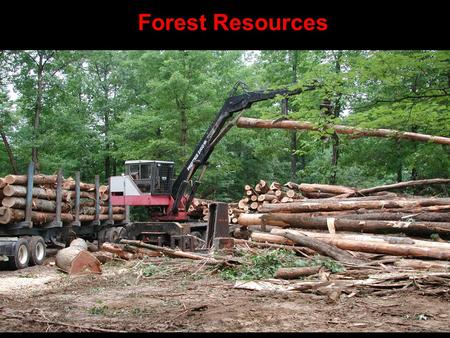 Forest Resources Clear Cutting forest harvesting that removes all trees from an area. Includes desirable AND undesirable species the land is left uncovered.
