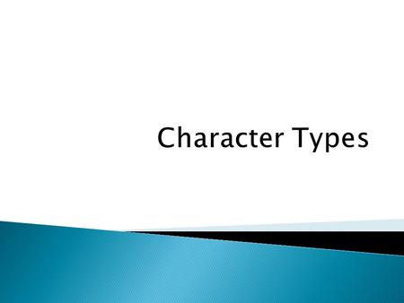  This lesson is about the different types of characters found in literature. The different types I will cover in this lesson are the protagonist, antagonist,