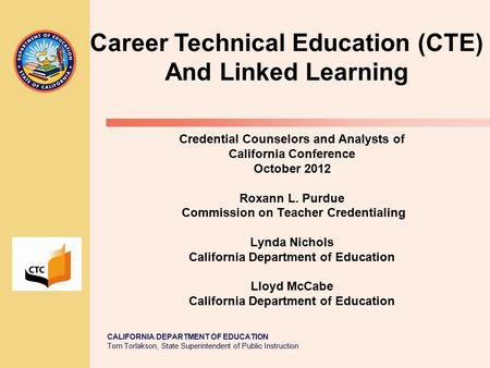 commission on teacher credentialing inspire, educate, and protect ...