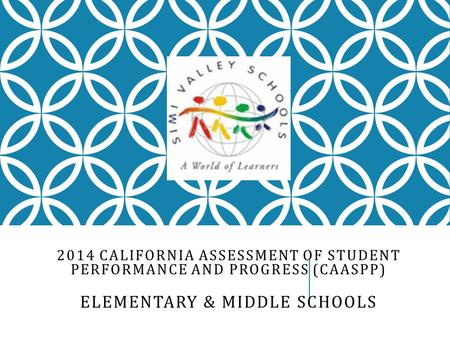 2014 CALIFORNIA ASSESSMENT OF STUDENT PERFORMANCE AND PROGRESS (CAASPP) ELEMENTARY & MIDDLE SCHOOLS.