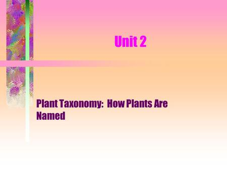 Plant Taxonomy: How Plants Are Named