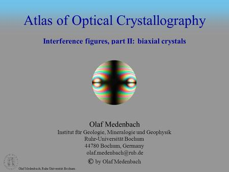 Atlas of Optical Crystallography