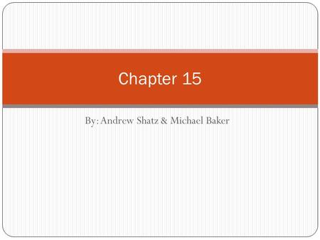By: Andrew Shatz & Michael Baker Chapter 15. Chapter 15 section 1 Key Terms: Skew Lines, Oblique Two lines are skew iff they are not parallel and do not.