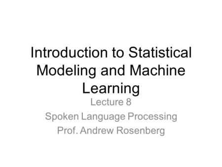 What is Statistical Modeling