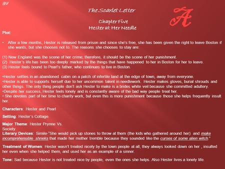 the scarlet letter chapter 6 chapter 6 and 7 summary of the scarlet letter the 47188