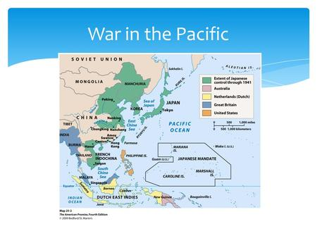War in the Pacific.  1931 invasion of Manchuria with plans to take southeast Asia  1937 capture Nanking, embarking on deadly rampage killing 200,000.