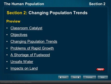 Section 2: Changing Population Trends