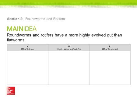 Section 2: Roundworms and Rotifers