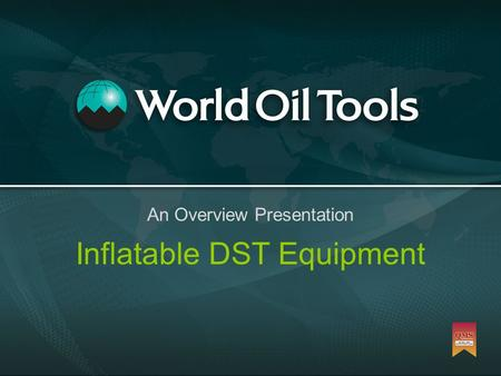 Inflatable DST Equipment An Overview Presentation.