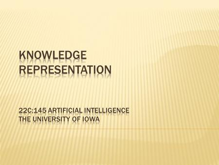  Contrary to the beliefs of early workers in AI, experience has shown that Intelligent Systems cannot achieve anything useful unless they contain a large.