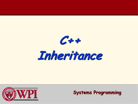 C++ Inheritance Systems Programming.