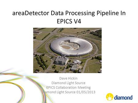 AreaDetector Data Processing Pipeline In EPICS V4 Dave Hickin Diamond Light Source EPICS Collaboration Meeting Diamond Light Source 01/05/2013.
