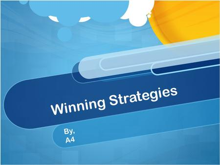 Winning Strategies By, A4. Contents Overview of Balanced Scorecard Advantages of Balance Scorecard Disadvantages of Balance ComparisonVision Usage of.