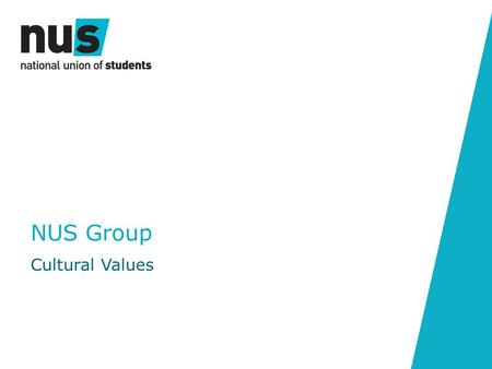 NUS Group Cultural Values. Our Values What are Values? Why are they Important? NUS Group Cultural Values Our Expectations.
