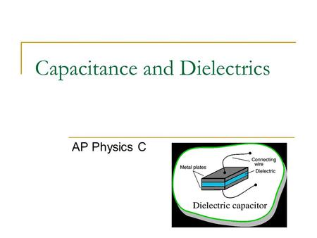 Capacitance and Dielectrics AP Physics C. Commercial Capacitor Designs Section 16.10.