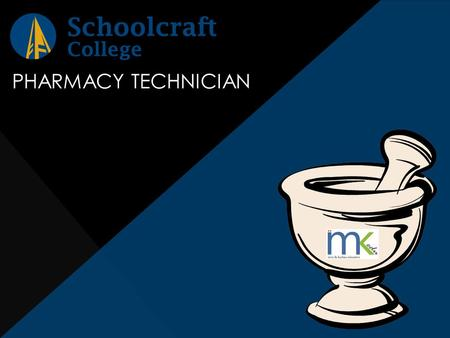 PHARMACY TECHNICIAN. DUTIES OF A PHARMACY TECHNICIAN Assist the pharmacist Enter patient information and data Dispense medication Compound specialty orders.