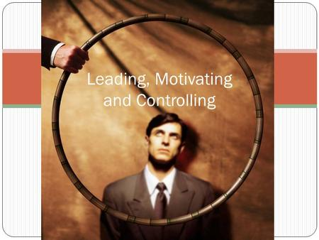 Leading, Motivating and Controlling