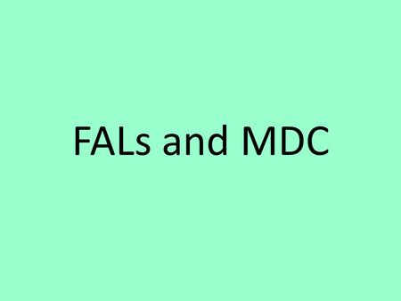 FALs and MDC. Before the Collaborative Activity: Meet as a grade level to collaboratively plan in advance the administration of the pre- assessment As.