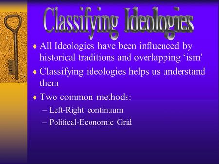Classifying Ideologies