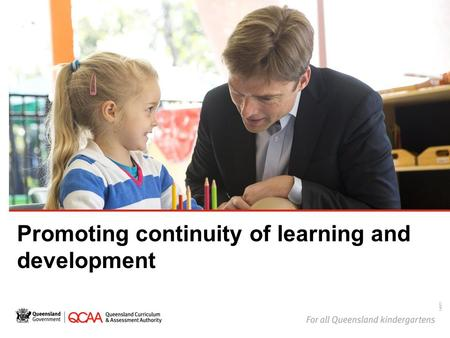 Promoting continuity of learning and development 14877.