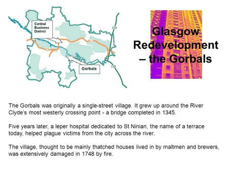 Glasgow Redevelopment – the Gorbals
