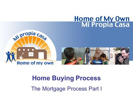 Home Buying Process The Mortgage Process Part I. Objectives Explain the Loan Application Process Identify Items Listed on the Good Faith Estimate Identify.