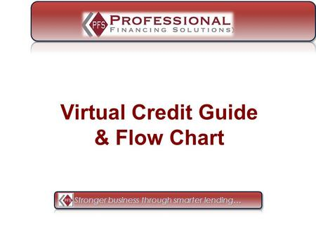 Virtual Credit Guide & Flow Chart. From your Application page, click: Y Your Company Name Here.