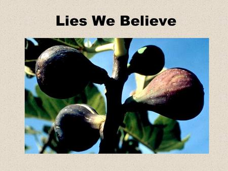 "Lies We Believe. Judges 17:6 ""In those days there was no king in Israel; every man did what was right in his own eyes."""