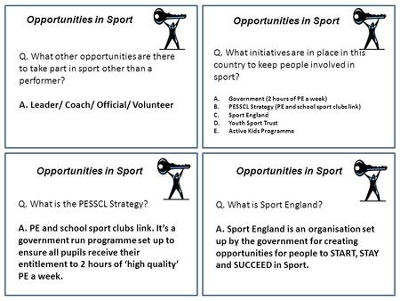 Opportunities in Sport Opportunities in Sport