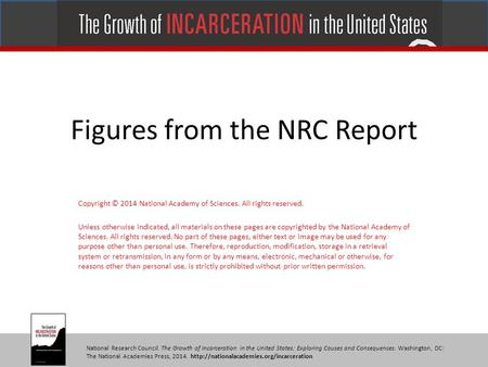 National Research Council. The Growth of Incarceration in the United States: Exploring Causes and Consequences. Washington, DC: The National Academies.